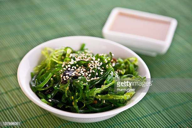 A bowl of Wakame seaweed salad