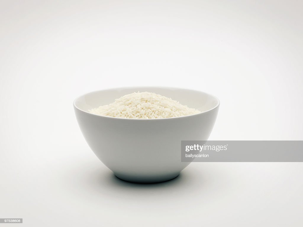 Bowl of White Rice. : Stock Photo