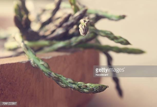 Bowl of wild asparagus