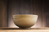 Bowl Japanese style on wood background