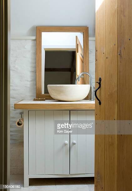Bowl sink in modern bathroom