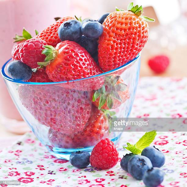 Bowl with fresh berries