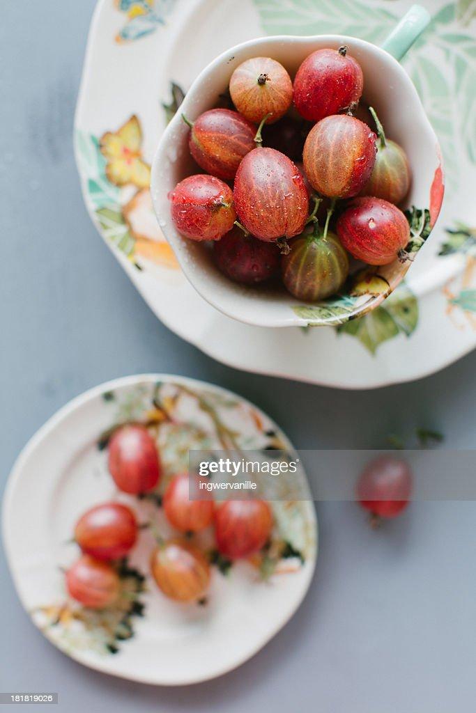 Bowl with Gooseberries : Stock Photo