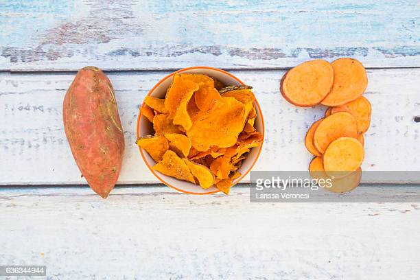 bowl with sweet potato chips
