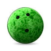 bowling ball on white background. Isolated 3D illustration