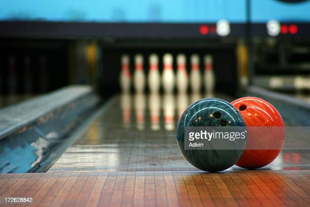 Bowling balls and pins