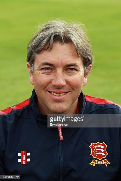 Bowling Coach Chris Silverwood poses for a photo during an Essex CCC Photocall at the Ford County Ground on April 3 2012 in Chelmsford England