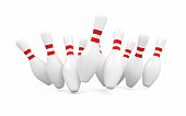 3d render Bowling pin (isolated on white and clipping path)