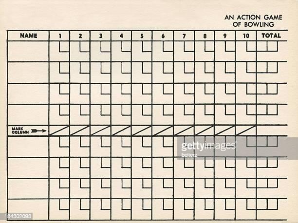 bowling score card