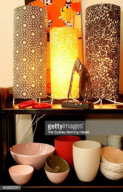 Bowls and lamps from MUD at Plum Interiors 87b Macleay Street Potts Point 3 August 2006 SMH DOMAIN Picture by DOMINO POSTIGLIONE