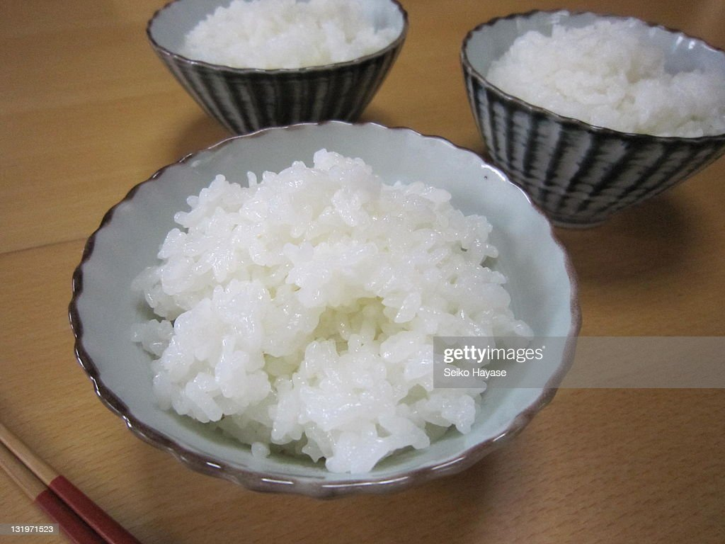 Bowls of rice : Stock Photo