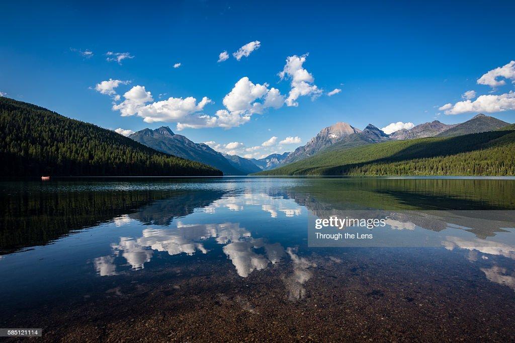 Bowman Lake cloud refelctions
