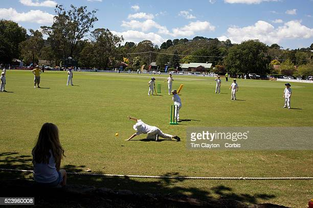 Young children play cricket after India and Pakistan competed in the first match of group B of the ICC Women's World Cup Cricket at the picturesque...