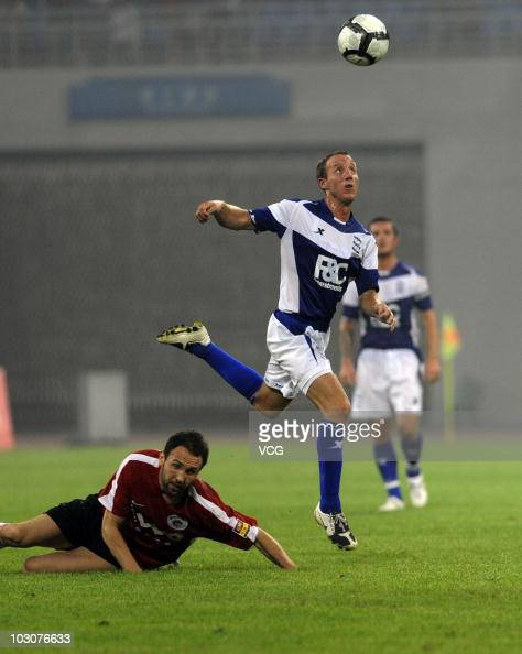 Bowyer of Birmingham City controls the ball during the 2010/11 preseason friendly match between Liaoning Hongyun and Birmingham City at Wukesong...