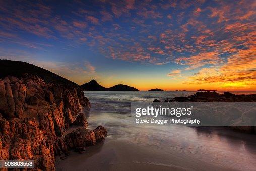 Box Beach sunrise : Foto de stock