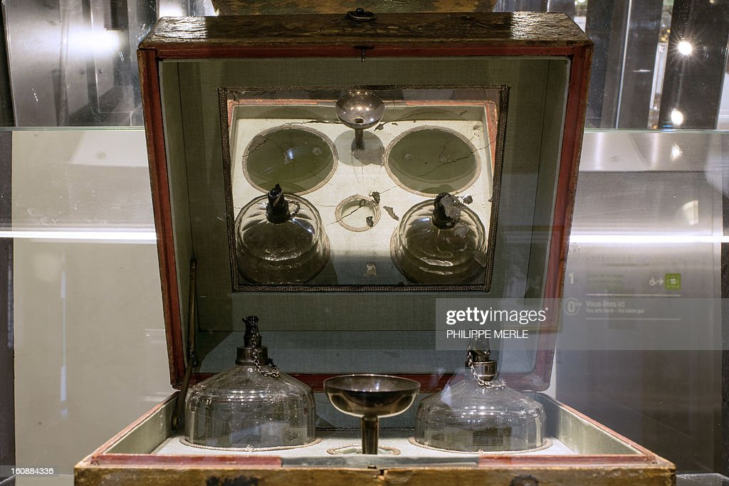 A box designed by Gervais-Chardin and dating to the 1780s is displayed on February 7, 2013 at the Gadagne Museum in the central french city of Lyon. After Hong Kong, Lyon opened on February 7 an exhibition of more than 200 rare pieces of beauty and makeup products: from 17th century boxes of beauty spots and whitening powders to sophisticated contemporary blush boxes, reflecting the evolution of women's makeup.