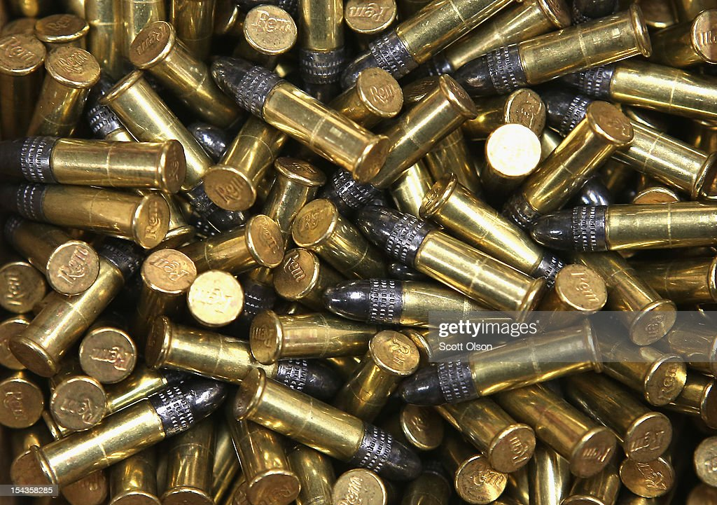 A box of 500 22 cal bullets are offered for sale at Freddie Bear Sports on October 18 2012 in Tinley Park Illinois Facing a $2675 million fiscal 2013...