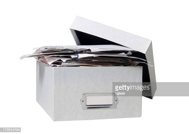 Box of Bills (WITH CLIPPING PATH)