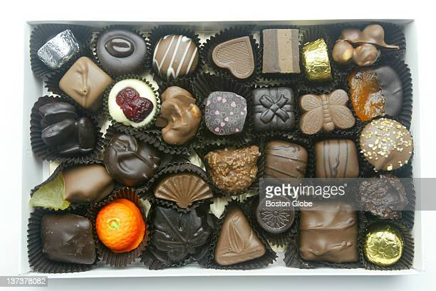 A box of chocolate for Valentine's Day photographed in The Boston Globe's studio on Feb 4 2005