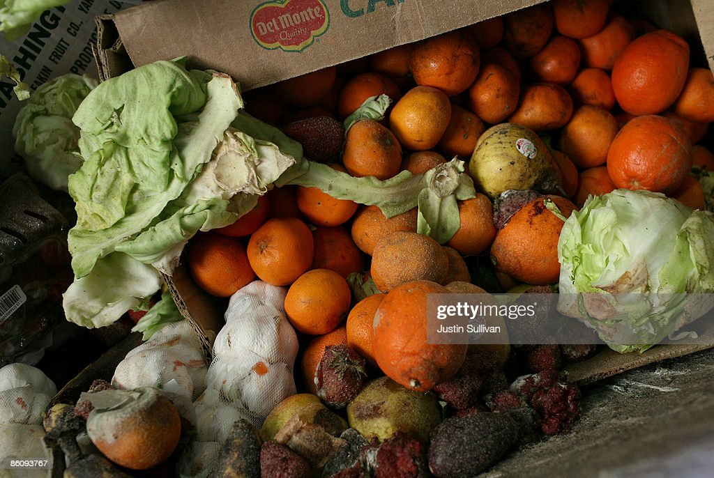 A box of food scraps that will be composted sits at the Norcal Waste Systems transfer station April 21 2009 in San Francisco California Norcal Waste...
