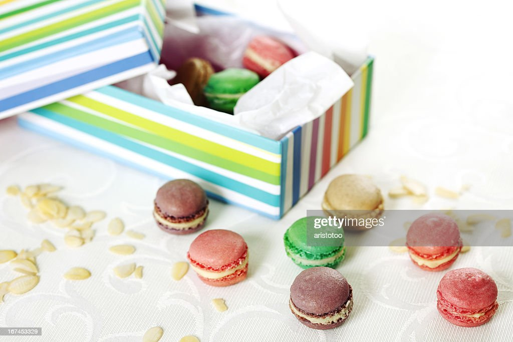 Box of Macaroons : Stock Photo