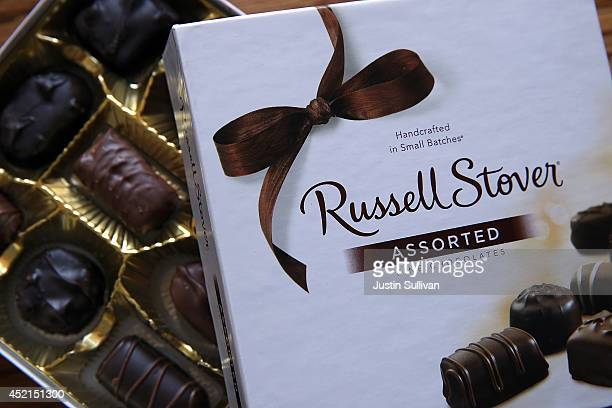 A box of Russell Stover chocolates is displayed on July 14 2014 in San Anselmo California Swiss chocolate maker Chocoladefabriken Lindt Spruengli...