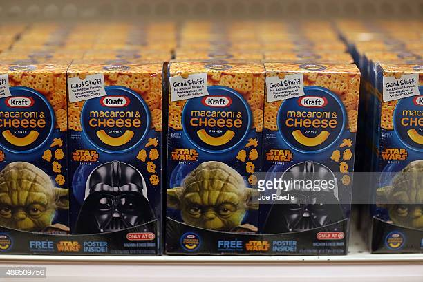 A box of Star Wars Kraft macaroni and cheese is seen for sale at a Target store on September 4 2015 in Miami Florida The merchandise is on sale ahead...