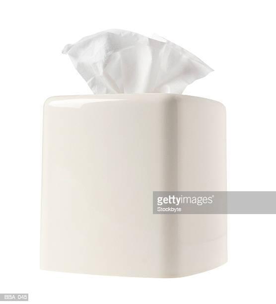 Box of tissues in ceramic cover