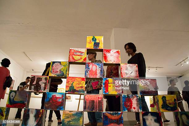 Box painting installation at the exhibition Indonesia National Gallery at Jakarta held an exhibition called quotRuang Baruquot from 23 participanta...