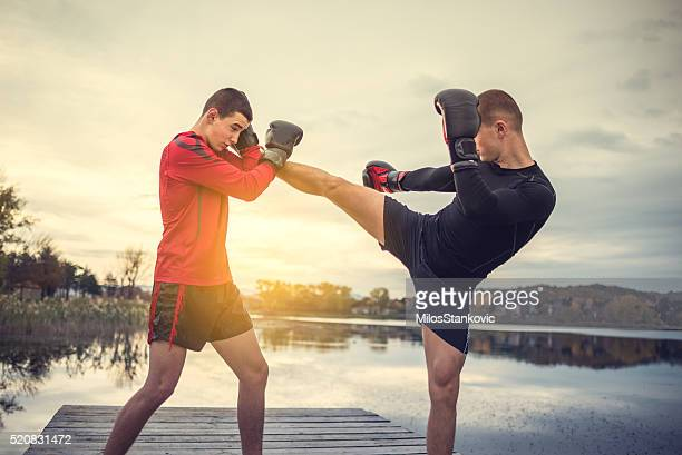 Box training outdoors