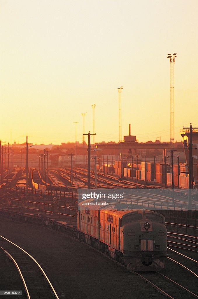 Boxcars in Railroad Siding : Stock Photo