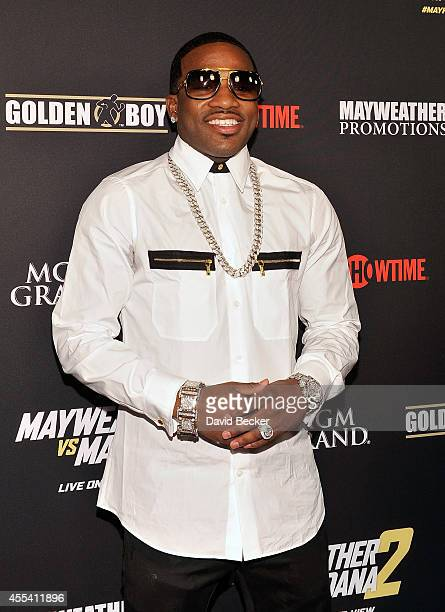 Boxer Adrien Broner arrives at Showtime's VIP prefight party for 'Mayhem Mayweather vs Maidana 2' at the MGM Grand Garden Arena on September 13 2014...