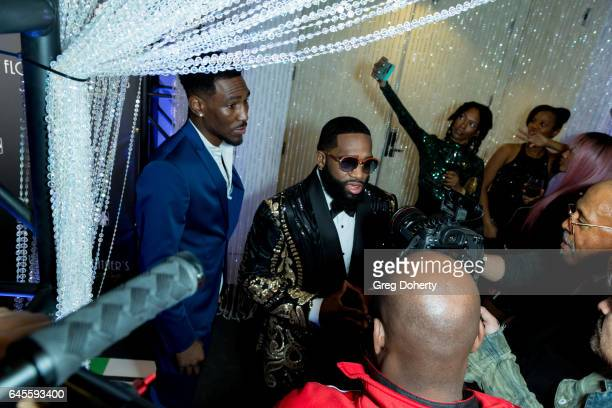 Boxer Adrien Broner attends Floyd Mayweather's 40th Birthday Celebration on February 25 2017 in Los Angeles California