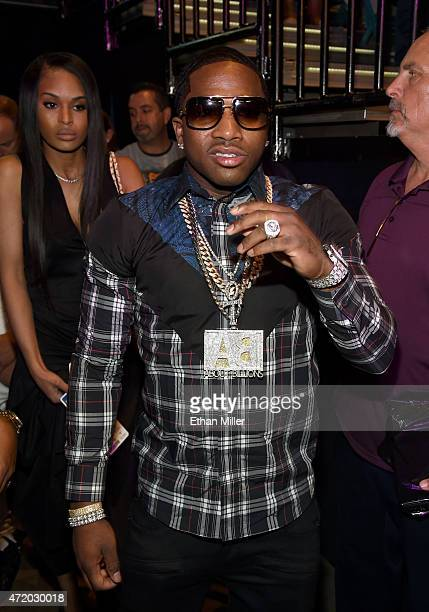 Boxer Adrien Broner poses ringside at 'Mayweather VS Pacquiao' presented by SHOWTIME PPV And HBO PPV at MGM Grand Garden Arena on May 2 2015 in Las...