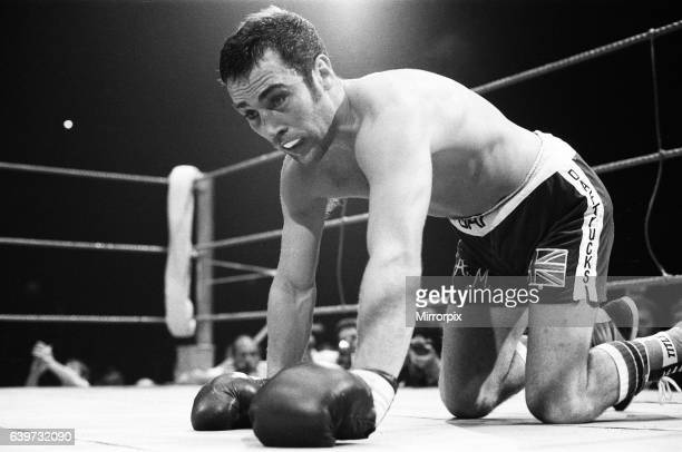 Boxer Alan Minter knocked down by Tony Sibson 1981 before losing fight