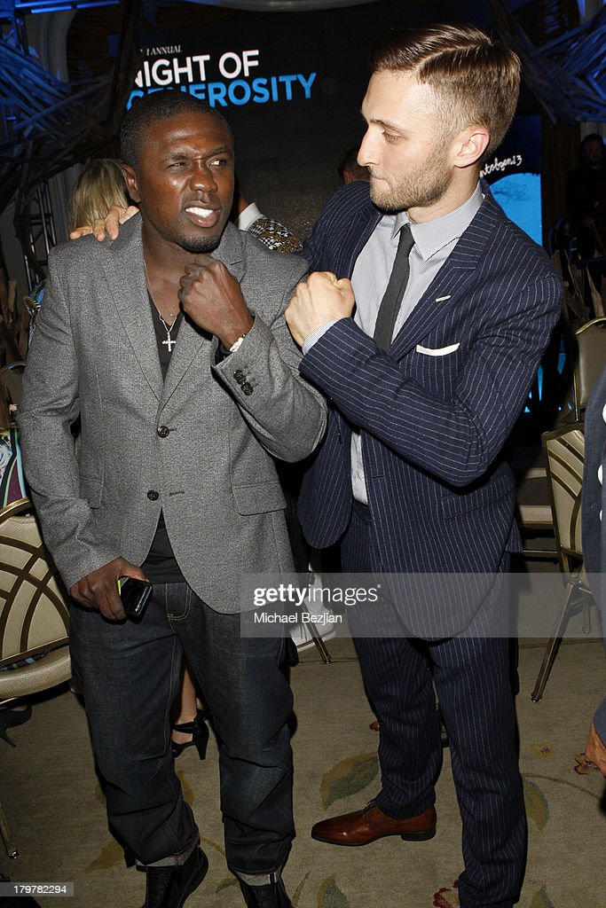 Boxer Andre Berto (L) and Generosity Water CEO Jordan Wagner attend Generosity Water presents the 5th Annual Night Of Generosity at Beverly Hills Hotel on September 6, 2013 in Beverly Hills, California.