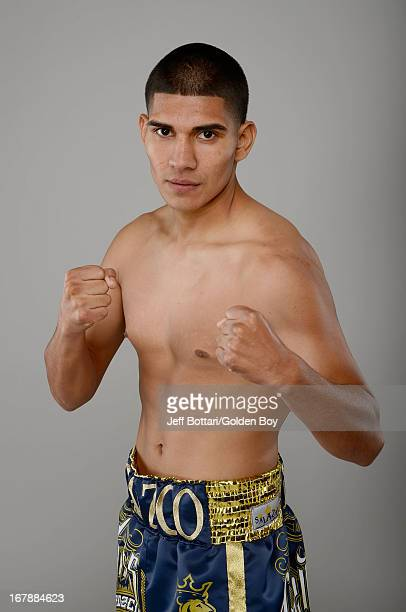 Boxer Antonio Orozco poses during a Golden Boy Promotions portrait session at the MGM Grand Garden Arena on May 1 2013 in Las Vegas Nevada
