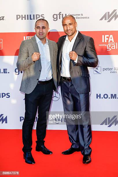 Boxer Arthur Abraham and his brother Alexander Abraham attend the IFA 2016 opening gala on September 1 2016 in Berlin Germany