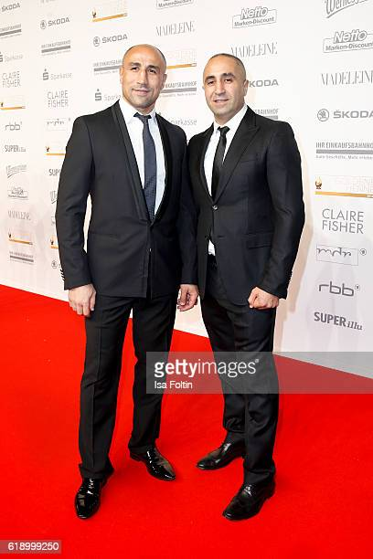 Boxer Arthur Abraham and his brother Alexander Abraham attend the Goldene Henne on October 28 2016 in Leipzig Germany