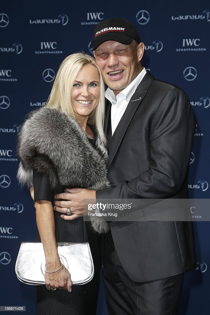 Boxer <a gi-track='captionPersonalityLinkClicked' href=/galleries/search?phrase=Axel+Schulz&family=editorial&specificpeople=828206 ng-click='$event.stopPropagation()'>Axel Schulz</a> and his wife Patricia Schulz attend the Laureus Media Award 2012 on November 05, 2012 in Kitzbuehel, Austria.