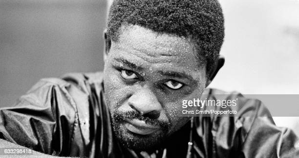 Boxer Azumah Nelson of Ghana training in London circa 1989