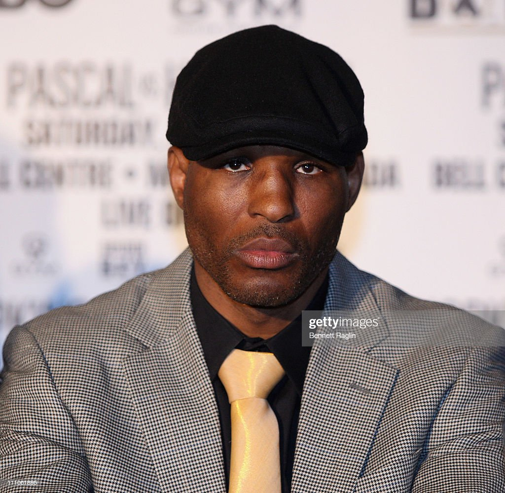 Boxer <a gi-track='captionPersonalityLinkClicked' href=/galleries/search?phrase=Bernard+Hopkins&family=editorial&specificpeople=171200 ng-click='$event.stopPropagation()'>Bernard Hopkins</a> attends the press conference to announce the upcoming fight between Jean Pascal And Bernard 'The Executioner' at Planet Hollywood on March 29, 2011 in New York City.