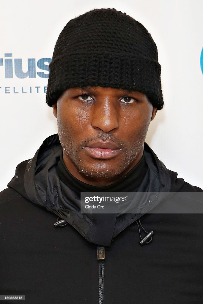 Boxer Bernard 'The Executioner' Hopkins visits the SiriusXM Studios on January 15, 2013 in New York City.