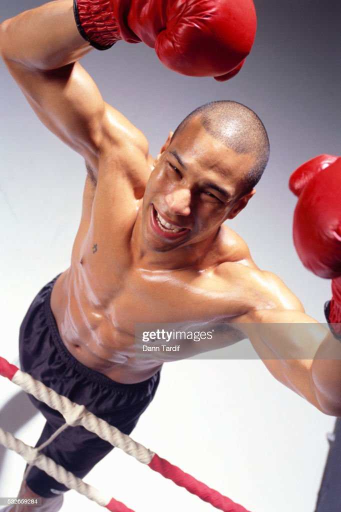 Boxer Cheering in Victory