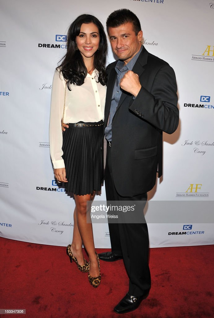 Boxer Danny Musico (R) and Melissa Ricci arrive to The Dream Center's 5th annual night of dreams gala at The Dream Center on October 3, 2012 in Los Angeles, California.