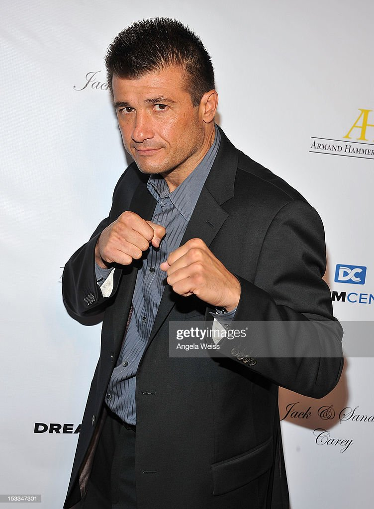 Boxer Danny Musico arrives to The Dream Center's 5th annual night of dreams gala at The Dream Center on October 3, 2012 in Los Angeles, California.