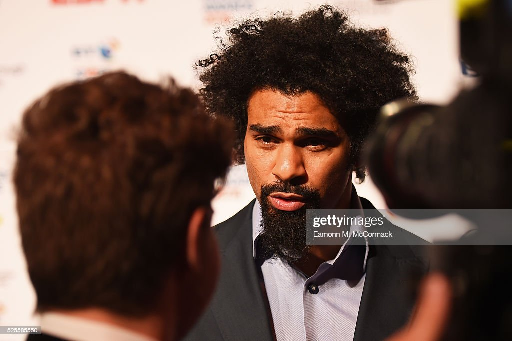 Boxer <a gi-track='captionPersonalityLinkClicked' href=/galleries/search?phrase=David+Haye&family=editorial&specificpeople=220778 ng-click='$event.stopPropagation()'>David Haye</a> poses on the red carpet at the BT Sport Industry Awards 2016 at Battersea Evolution on April 28, 2016 in London, England. The BT Sport Industry Awards is the most prestigious commercial sports awards ceremony in Europe, where over 1750 of the industry's key decision-makers mix with high profile sporting celebrities for the most important networking occasion in the sport business calendar.