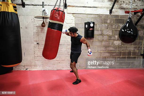 Boxer David Haye works out at his gym in Vauxhall on November 23 2016 in London England