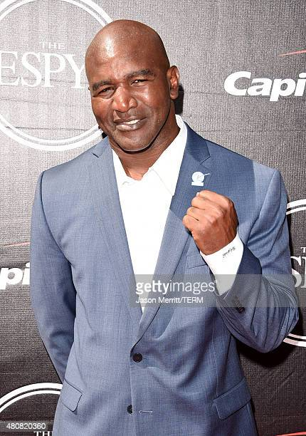 Boxer Evander Holyfield attends The 2015 ESPYS at Microsoft Theater on July 15 2015 in Los Angeles California
