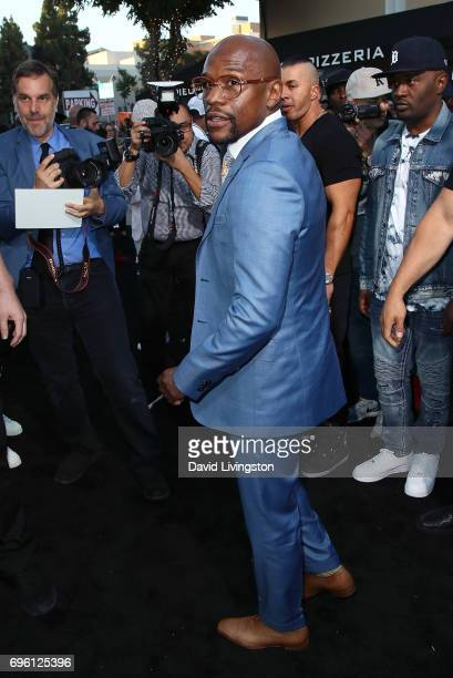 Boxer Floyd Mayweather attends the premiere of Lionsgate's 'All Eyez On Me' on June 14 2017 in Los Angeles California